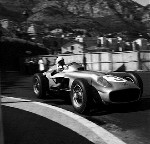 Stirling Moss In His Mercedes-benz W 196 Monaco Grand Prix 1955