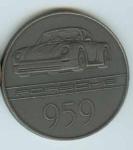 Original Porsche Calendar Coin 1985