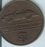 Original Porsche Calendar Coin 1989