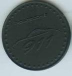 Original Porsche Calendar Coin 1998