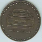 Original Porsche Kalendermünze 2004 Carrera