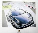 Design Studie Porsche 911 Carrera Coupé - Poster