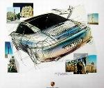 Design Studie Porsche 911 Targa - Poster
