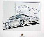 Porsche Design Study Porsche 996 C4 Coupé, Poster 2000