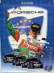 Porsche Original Rennplakat 1996 - Supercup - Gut Erhalten