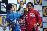 Schumacher Barrichello Berger Winner Second