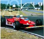 Jody Scheckter, Ferrari No. 1. 70 Years Agip Poster, 1996