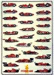 Ferrari Formel 1 Typentafel Automobile - Poster