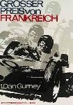 Großer Preis Von Frankreich 1961 - Porsche Reprint - Kleinposter