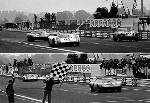 24 Hours Of Le Mans. Ickx /oliver In Their Ford Gt 40 Und Herrmann/larrousse In Their Porsche 908.