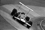 Eifelrennen Formula 2 Nürburgring 1969. Graham Hill Im Lotus 59.