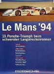 Porsche 24 Hours Of Le Mans 1994 - Porsche Original Race Poster