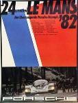 Porsche Original Rennplakat 1982 - Stunden Von Le Mans - Gut Erhalten