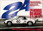 24 Stunden Von Le Mans 1970 - Porsche Rennplakat Reprint