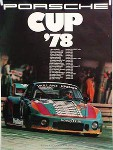 Porsche Original Rennplakat 1978 - Porsche Cup - Gut Erhalten