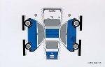 Bastelpostkarte Construction Postcard Bmw Isetta