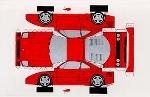 Bastelpostkarte Construction Postcard Ferrari F40