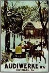 Audi Automobile Car Postcard