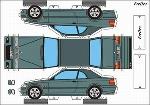 Bastelpostkarte Bmw 3 Cabriolet
