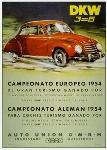 Dkw 3=6 Werbung 1954 Audi