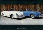 Porsche 356 Vor-a-cabrio And C - Postcard Reprint