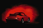 Porsche 911 Carrera - Postcard Reprint