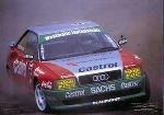 T. Kristoffersson Im Audi S2 Quattro - Postkarte Reprint