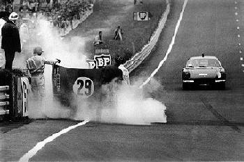 24 Hours Of Le Mans 1969. Depailler And Jabouille In Theri Alpine A220.
