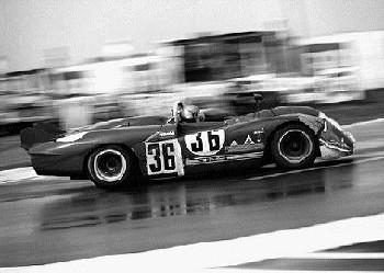 Piers Courage In His Alfa Romeo 33/3 24h Le Mans 1970
