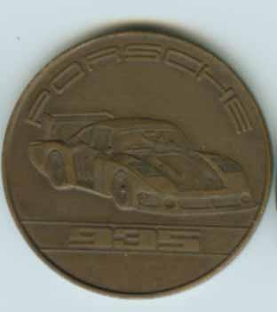 Original Porsche Kalendermünze 1979 935