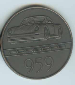 Original Porsche Kalendermünze 1985 959