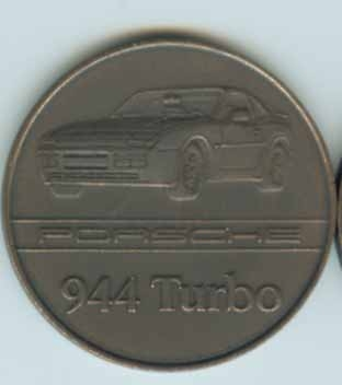 Original Porsche Kalendermünze 1986 944