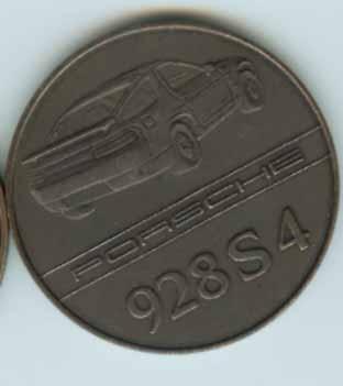 Original Porsche Calendar Coin 1987