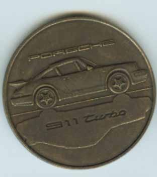 Original Porsche Calendar Coin 1991
