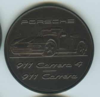 Original Porsche Calendar Coin 1995
