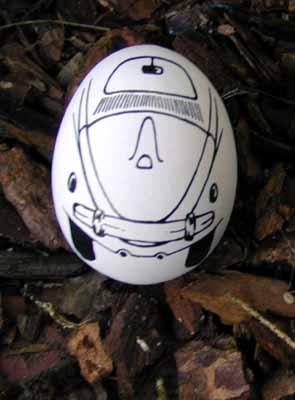 Original Chalk Egg Vw Beetle