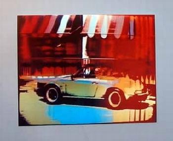 Porsche 911 Cabrio Poster, 1985