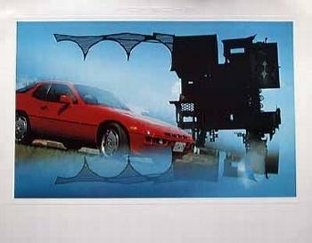 Porsche 924 Poster Ryokichi Mukai, 1981