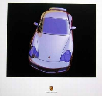 Porsche Design Study Porsche 996 Turbo, Poster 2000