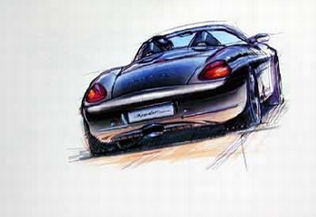 Porsche Design Study Porsche Boxster, Poster 1998