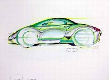 Porsche Design Study Porsche 996, Poster