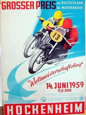 Original Renn 1959 Grosser Preis