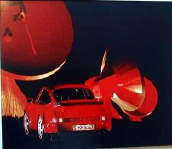 Porsche 911 Turbo Rot Poster, 1992