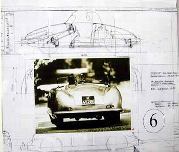 Poster 50 Jahre Porsche 1998, Prof. Ferry Porsche Auf Seiner Nr. 1