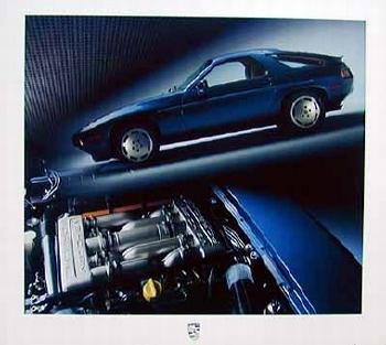 Porsche 944 Poster, 1986