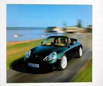 Porsche 911 Carrera Cabriolet Poster, 2001