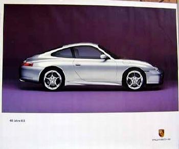 Porsche Original Werbeplakat - 40 Jahre Porsche 911 - Gut Erhalten