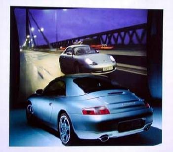 Porsche Carrera 4 Cabriolet Poster, 1999