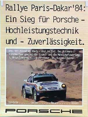 Porsche Original Ralley Paris-dakar 1984