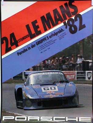 Porsche 24 Hours Of Le Mans 1982 Grupp 5 - Porsche Original Race Poster